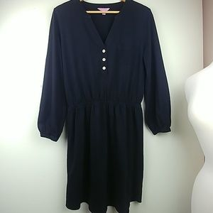 Lilly Pulitzer jet black pima cotton camp dress.